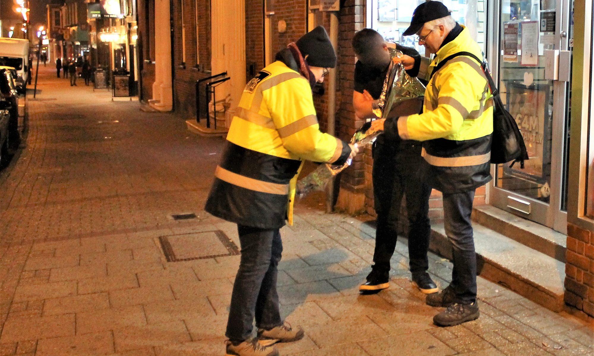 Town Pastors helping